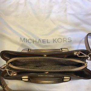 9eacb63eff71 MICHAEL Michael Kors Bags - Michael Kors Gold Savannah Medium Satchel